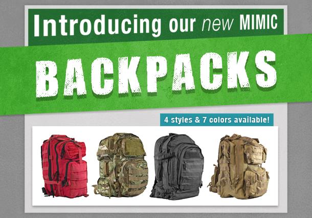 NEW MIMIC Backpacks!