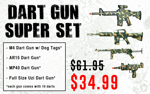 NEW Dart Gun Super Set!